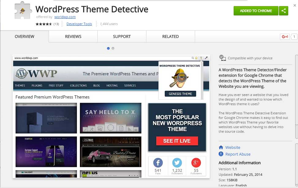 chrome-wp-theme-detective