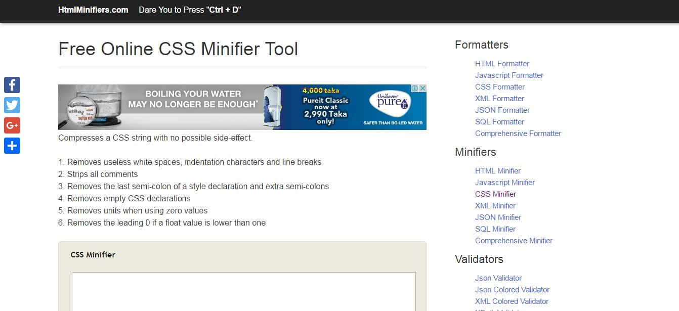 htmlminifiers