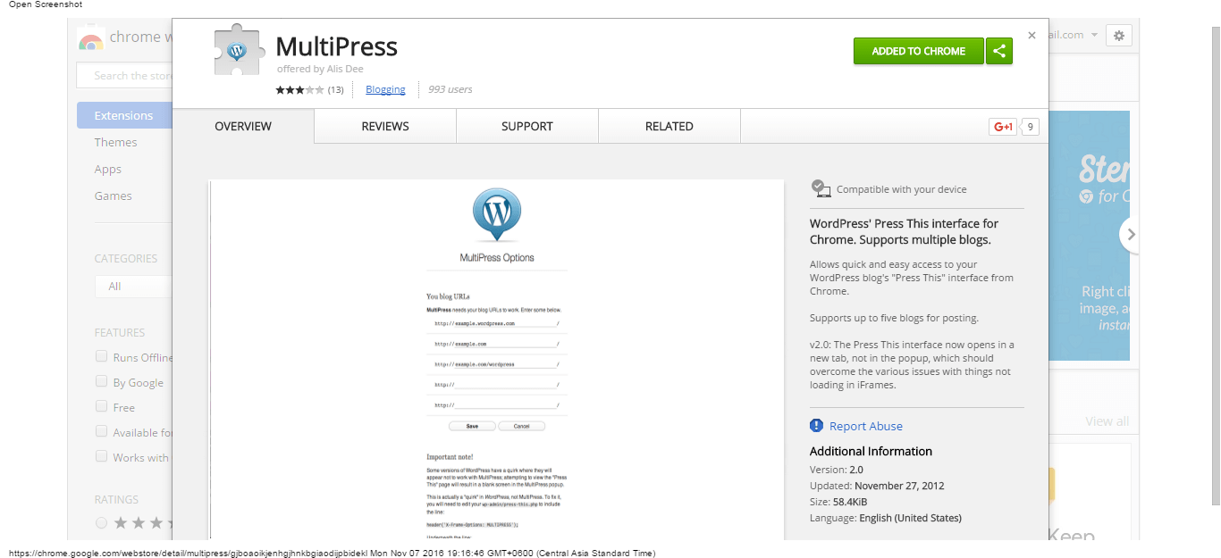multipress-chrome-web-store