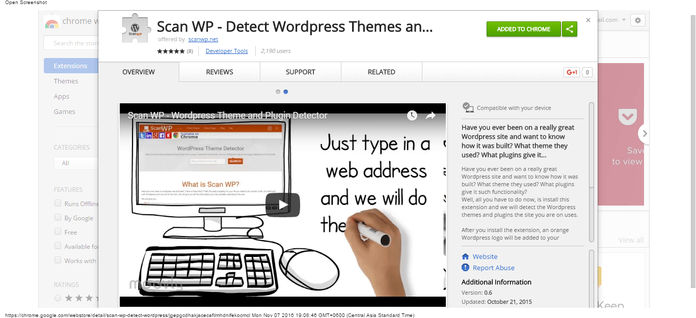 scan-wp-detect-wordpress-themes-and-plugins-chrome-web-store
