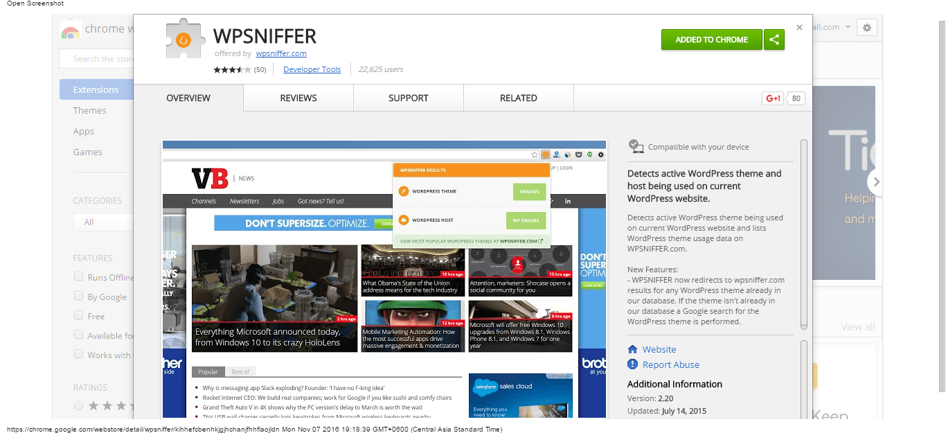 wpsniffer-chrome-web-store