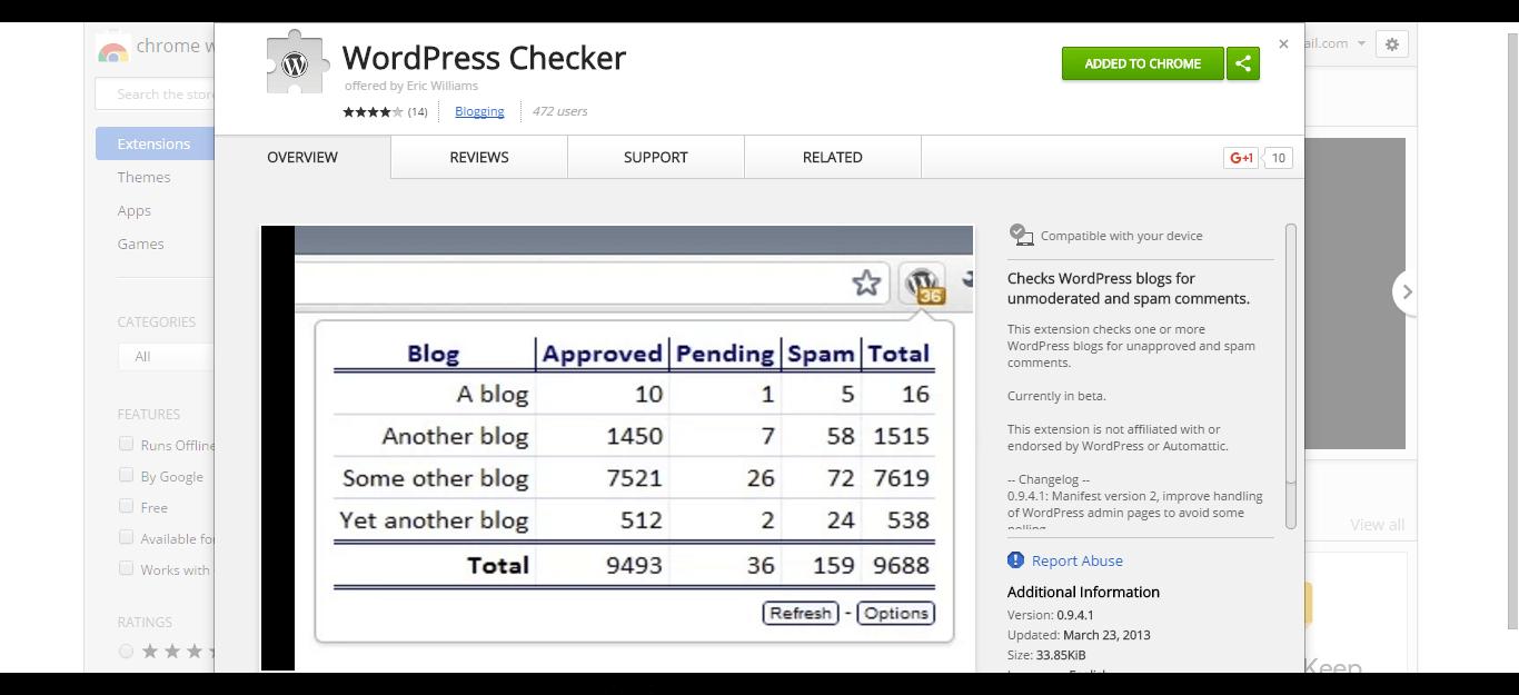 wordpress-checker-chrome-web-store