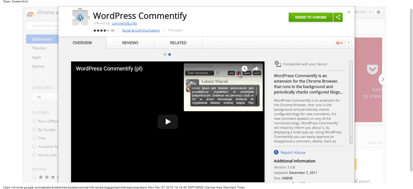 wordpress-commentify-chrome-web-store