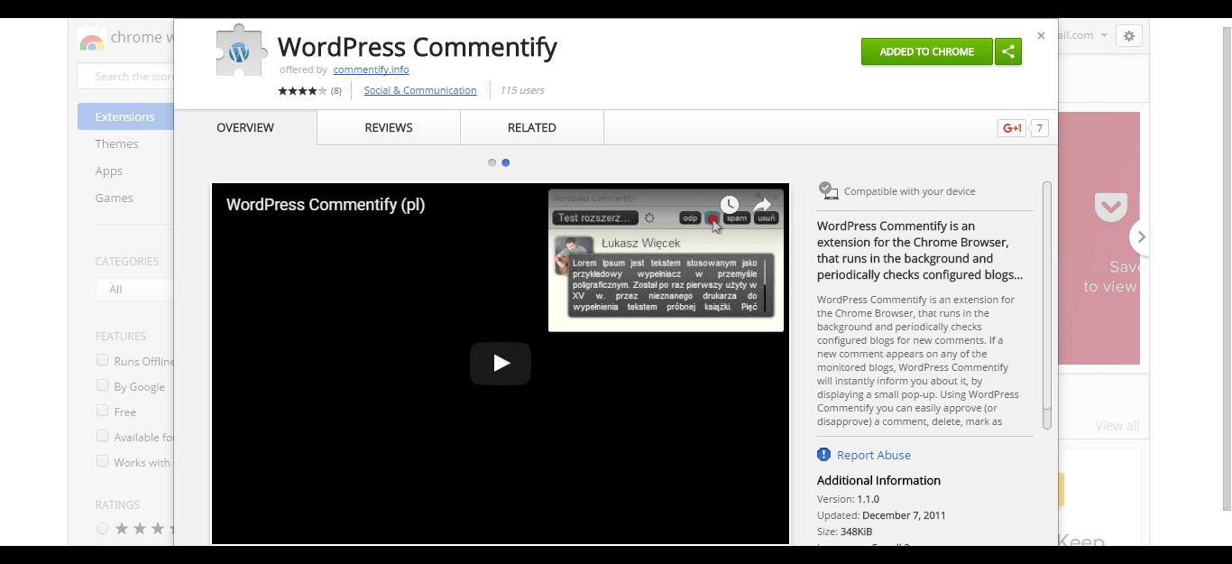 wordpress-commentify-chrome-web-store