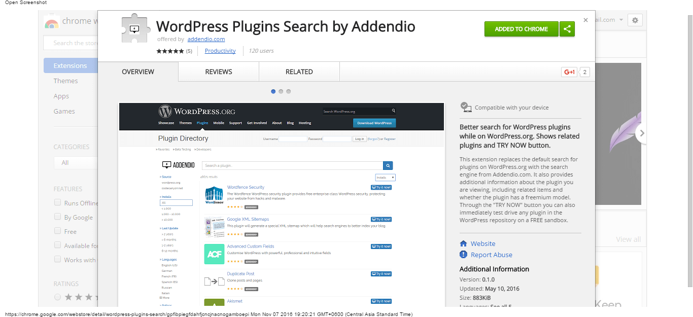 wordpress-plugins-search-by-addendio-chrome-web-store