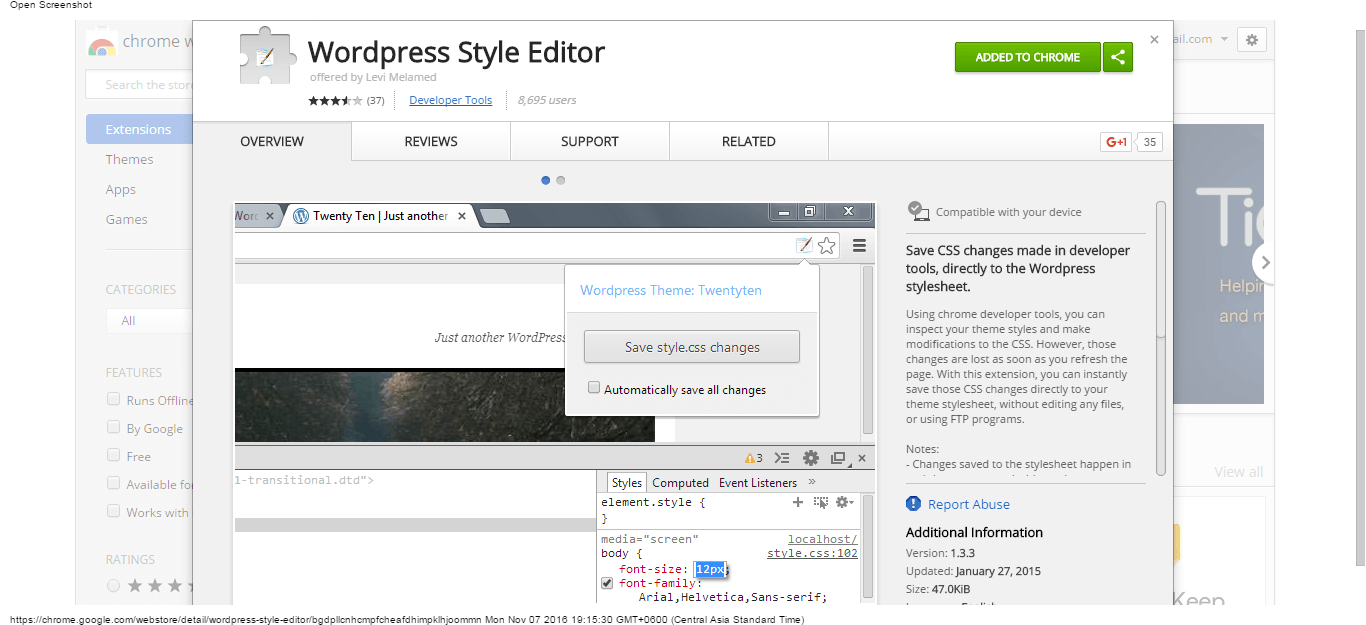 22 free and useful google chrome extensions for wordpress users wordpress style editor chrome web store ccuart Image collections