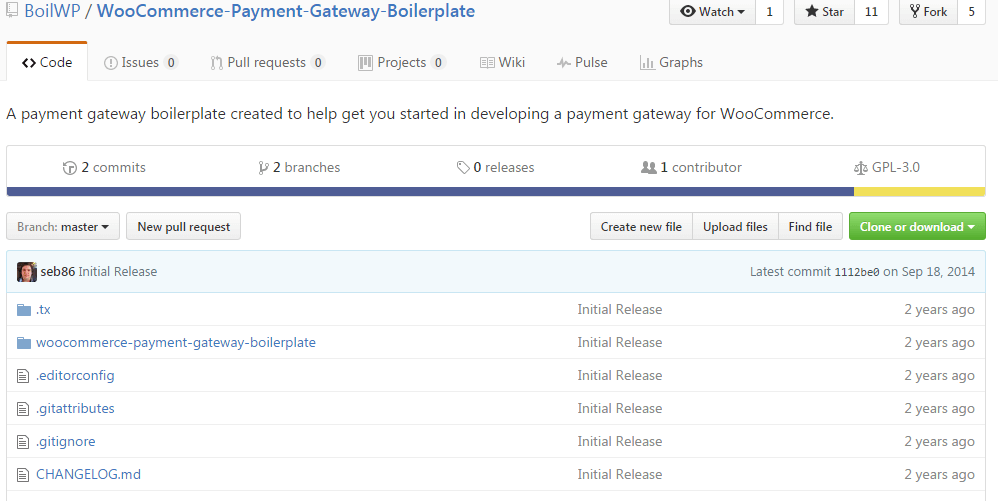 BoilWP WooCommerce-Payment-Gateway-Boilerplate A payment gateway boilerplate created to help get you started in developing a payment gateway for WooCommerce.