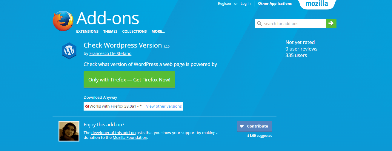check-wordpress-version-add-ons-for-firefox