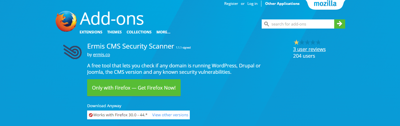 ermis-cms-security-scanner-add-ons-for-firefox