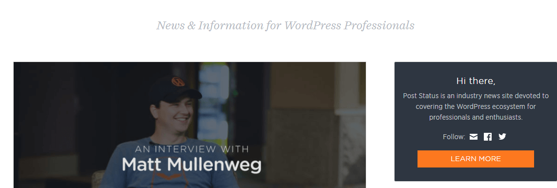 Post Status WordPress News