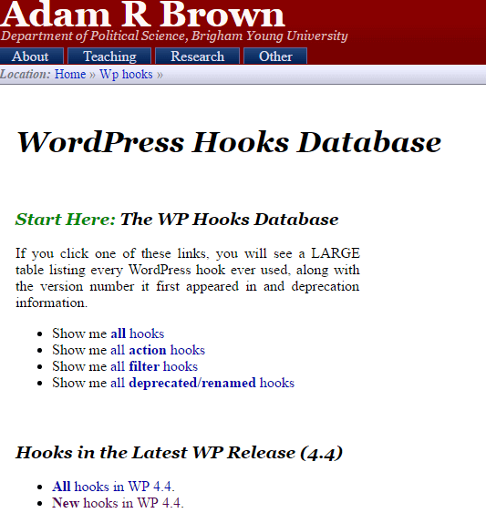 Adam-Brown WordPress-hooks-database