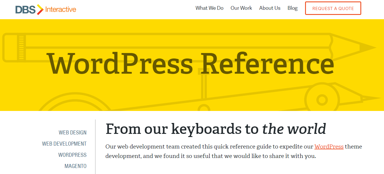 Wordpress Reference Guides DBS Interactive