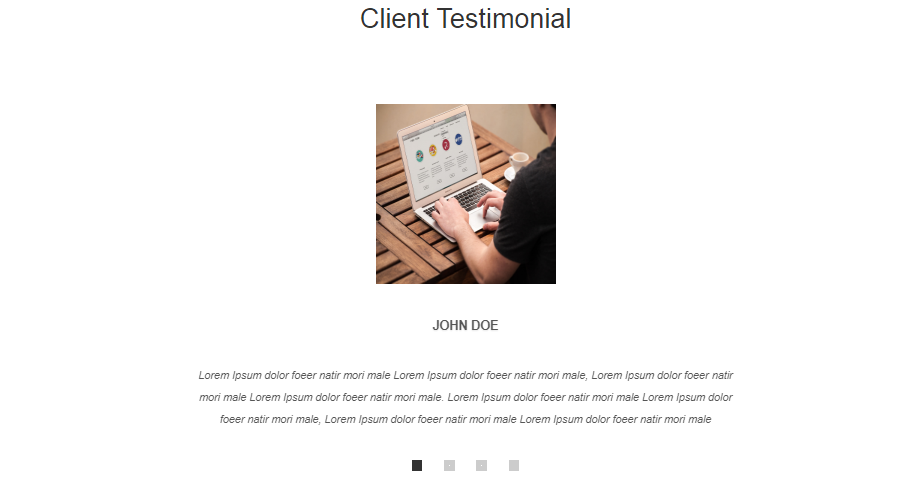 Client Testimonial Widget