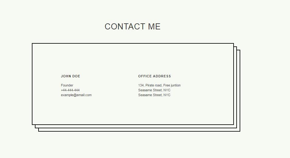 Contact Widget Two