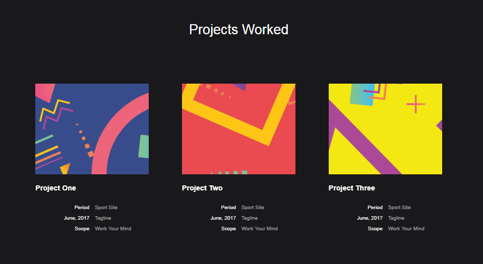 Project Widget One