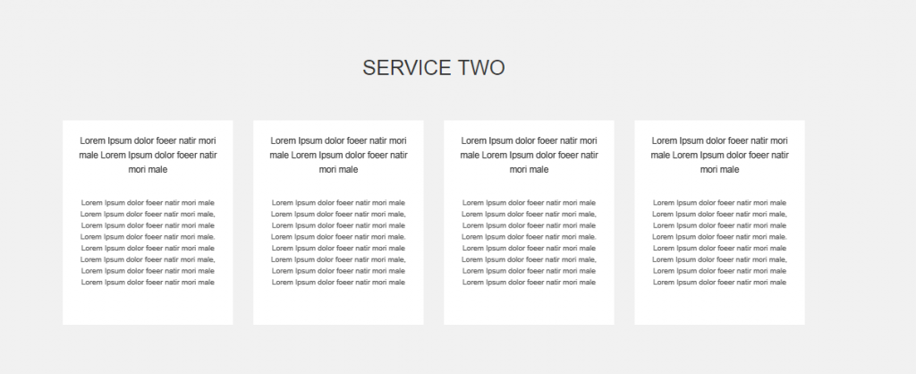 Service Widget Two