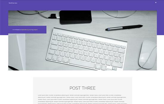 Portfolioo WordPress theme less clutter