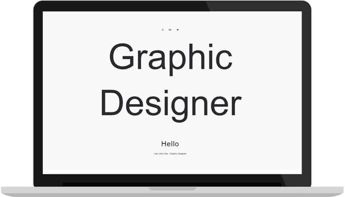 Portfolioo WordPress theme frontpage screenshot hero image