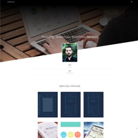 Portfolioo Pro Theme WordPress Guru demo screenshot