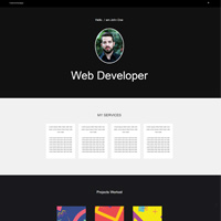Portfolioo Pro Theme Web Developer Demo screenshot