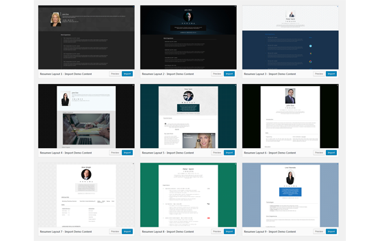 a clean  lightweight and bloat free wordpress resume theme