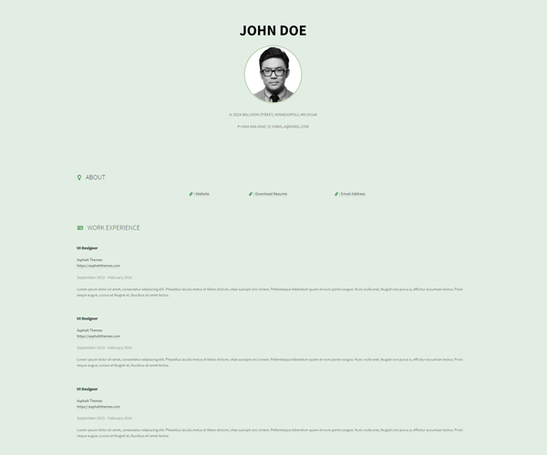 WordPress Theme Cvee Screenshot
