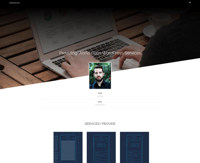 WordPress Theme Portfolioo Screenshot